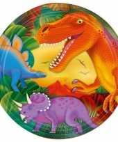 Dinosaurus feest bordjes 8x stuks 23 cm feestje