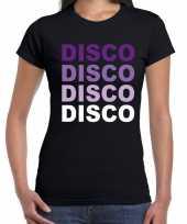 Disco feest t-shirt zwart voor dames feestje