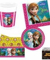 Disney frozen kinderfeestje versiering tafel pakket 8 pers kaa feestje