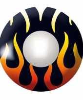 Duivelse feestlenzen zwart met vlammen feestje