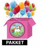 Eenhoorn kinderfeestje pakket m feestje