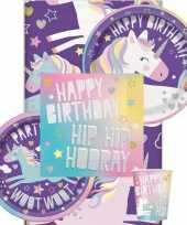 Eenhoorn themafeest tafeldecoratie pakket 8 personen feestje