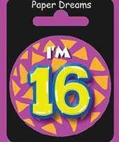 Feest button 16 jaar feestje