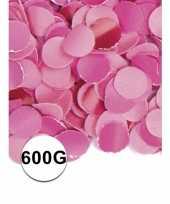Feest confetti 600 gram roze feestje
