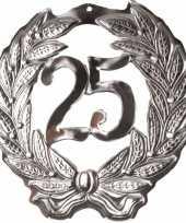 Feest decoratie krans van 25 jaar feestje