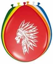 Feest indianen ballonnen 8 stuks feestje