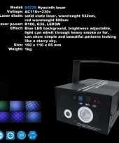 Feest laser met blauwe effecten feestje