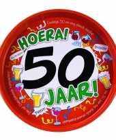Feest metalen dienblad 50 jaar 30 cm feestje