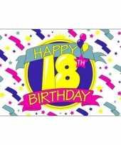 Feest vlag 18 jaar feestje