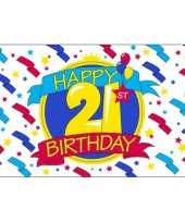 Feest vlag happy birthday 21 jaar feestje