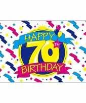 Feest vlag happy birthday 70 jaar feestje