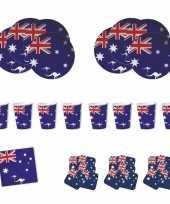 Feestartikelen australie tafel versiering pakket feestje
