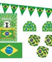 Feestartikelen brazilie versiering pakket feestje 10114093