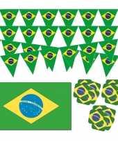 Feestartikelen brazilie versiering pakket feestje
