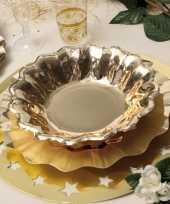 Feestartikelen diepe borden goud 27 cm feestje