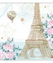 Feestartikelen servetten frankrijk thema 20 stuks feestje