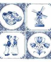 Feestartikelen servetten holland thema 40 stuks feestje