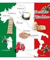 Feestartikelen servetten italie thema 20 stuks feestje