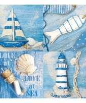 Feestartikelen servetten maritiem thema 20 stuks feestje