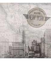 Feestartikelen servetten new york thema 20 stuks feestje