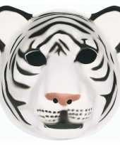 Feestartikelen tijger masker wit feestje