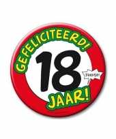 Feestartikelen xxl 18 jaar verjaardags button feestje