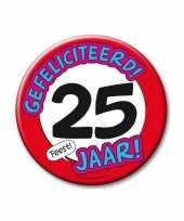Feestartikelen xxl 25 jaar verjaardags button feestje