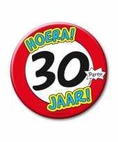 Feestartikelen xxl 30 jaar verjaardags button feestje