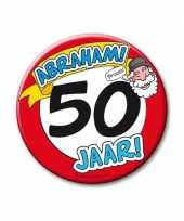 Feestartikelen xxl 50 jaar verjaardags abraham button feestje