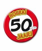 Feestartikelen xxl 50 jaar verjaardags button feestje
