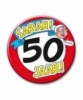 Feestartikelen xxl 50 jaar verjaardags sarah button feestje