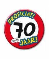 Feestartikelen xxl 70 jaar verjaardags button feestje