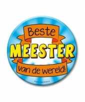 Feestartikelen xxl button beste meester feestje