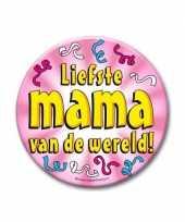 Feestartikelen xxl button liefste mama feestje