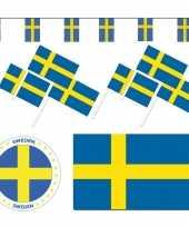 Feestartikelen zweden versiering pakket feestje