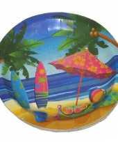 Feestborden hawaii 23 cm feestje