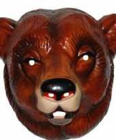 Feestmasker beer bruin voor volwassenen feestje