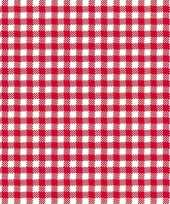 Feestservetten geruit rood wit 3 laags 20 stuks feestje