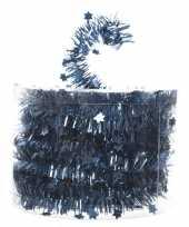 Feestslinger dun blauw sterren folie 7 x 270 cm feestje