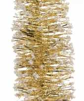 Feestslinger goud folie met sneeuw 7 5 x 200 cm feestje
