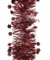 Feestslinger met sterren donkerrood 10 x 270 cm feestje