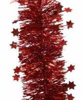 Feestslinger met sterren rood 10 x 270 cm feestje