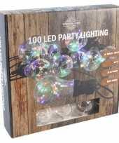 Feestverlichting timer lichtsnoer met 10 bolletjes 450 cm feestje