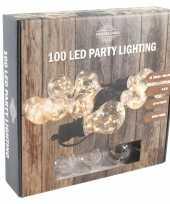 Feestverlichting warm wit met 10 gloeilampjes 4 5 meter feestje