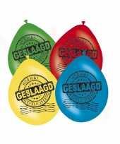 Feestversiering afgestudeerd ballonnen 8x feestje 10087957