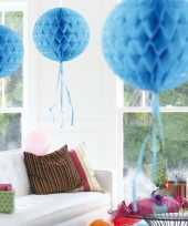Feestversiering baby blauwe decoratie bol 30 cm feestje