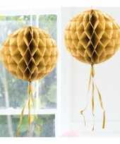 Feestversiering gouden decoratie bol 30 cm feestje