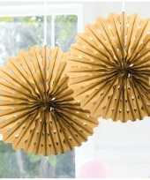 Feestversiering gouden decoratie waaier 45 cm feestje