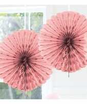 Feestversiering licht roze decoratie waaier 45 cm feestje