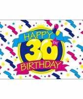 Feestvlag happy birthday 30 feestje